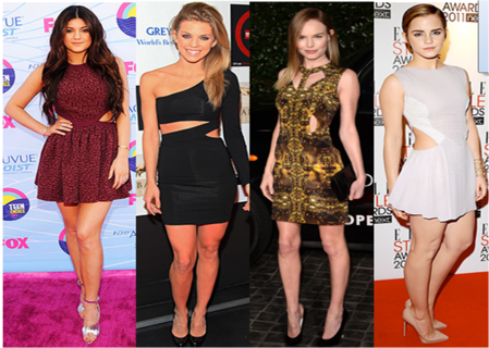 Celebrities Wearing Cut-Out Dresses