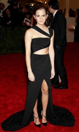 Emma Watson Cut-Out Dress at Met Ball 2013
