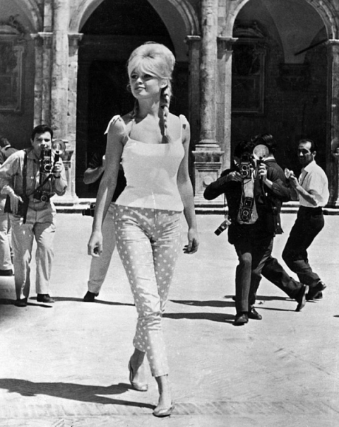 Brigitte Bardot Polka Dot Cropped Trousers StyleChi Fashion Crush