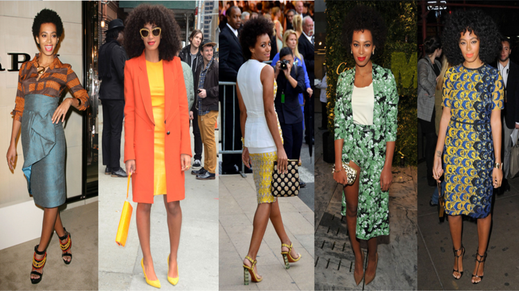 Solange Knowles Midi Length Styles - StyleChi