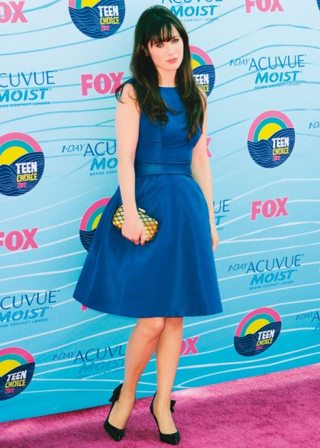 Zooey Deschanel Blue Dress - StyleChi