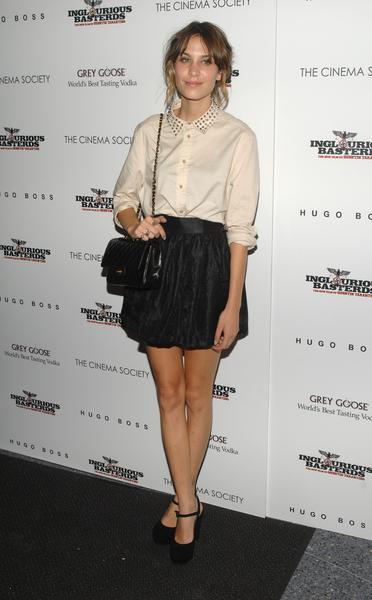 Alexa Chung High Waisted Skirt Blouse StyleChi