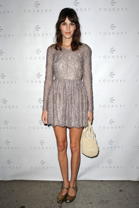 Alexa Chung Lace Dress StyleChi