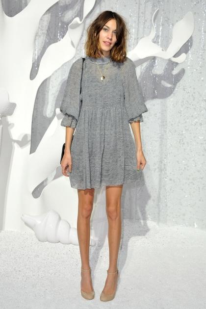 Alexa Chung Oversized Mini Dress StyleChi