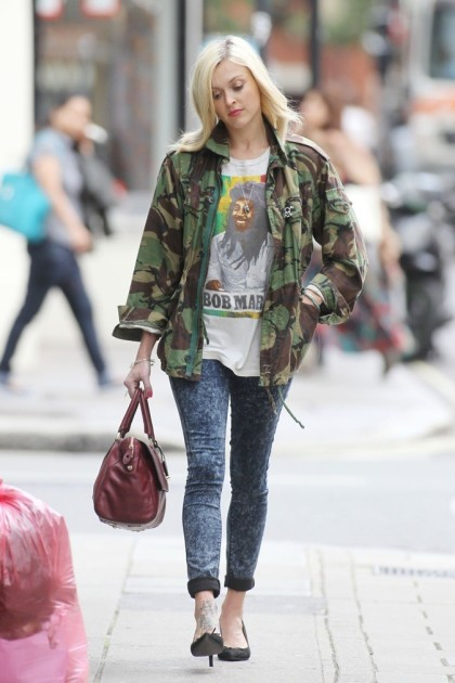 Fearne Cotton Acid Wash Jeans Camouflage Jacket StyleChi