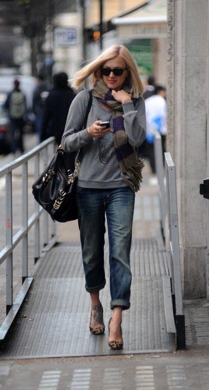 Fearne Cotton Boyfriend Jeans Leopard Heels StyleChi