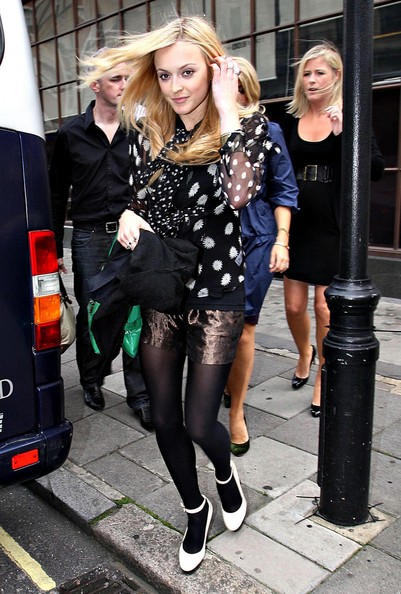 Fearne Cotton Metallic Shorts StyleChi