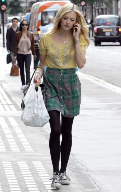 Fearne Cotton arriving at Radio 1 studios, London, Britain - 22 Aug 2008