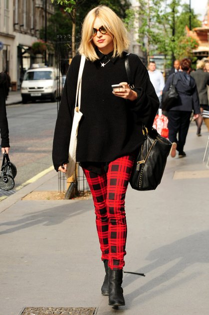 Fearne Cotton Tartan Trousers STyleChi
