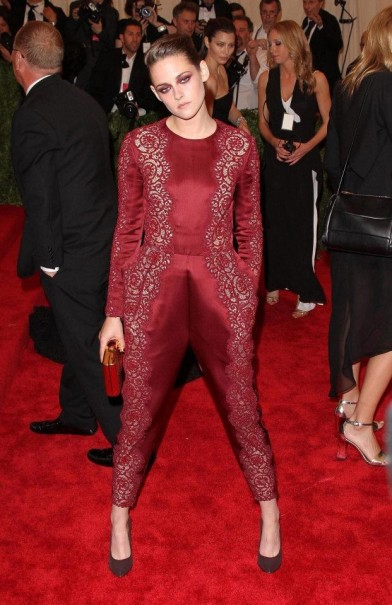 Kristen Burgundy Part Lace Combi Red Carpet StyleChi