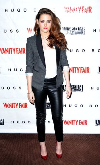 Kristen Stewart Leather Trousers Red Heels StyleChi