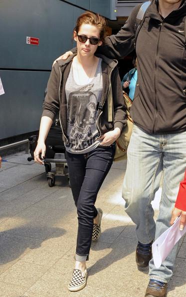 Kristen Stewart Casual Skinnies T-Shirt Hoodie Vans StyleChi