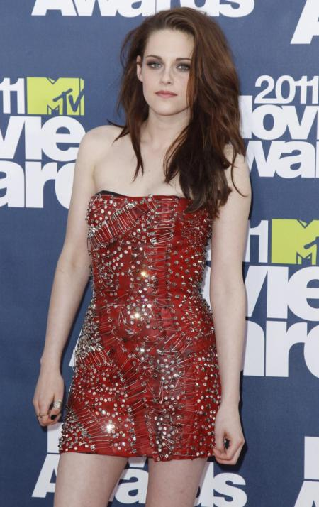 Kristen Stewart Mini Studded Safety Pin Dress StyleChi