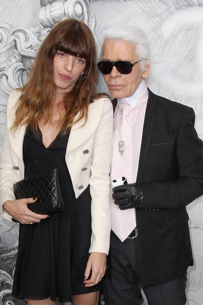 Lou Doillon LBD White Cropped Jacket Karl Lagerfeld StyleChi
