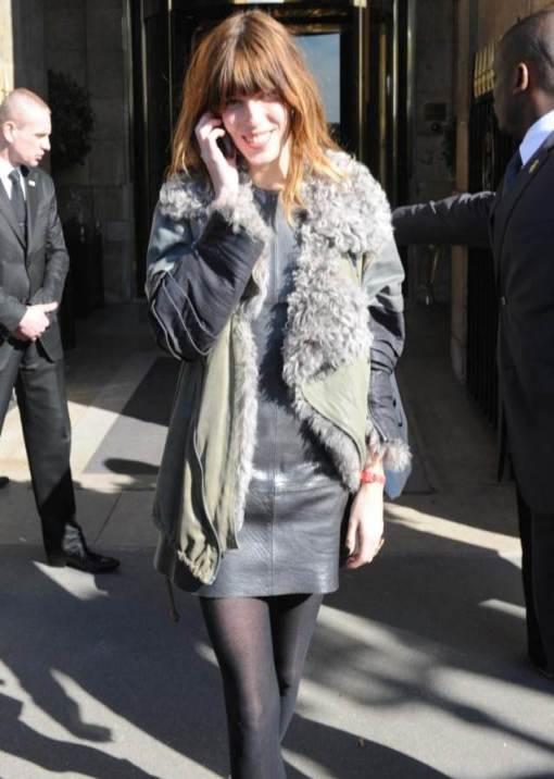 Lou Doillon Leather Dress StyleChi