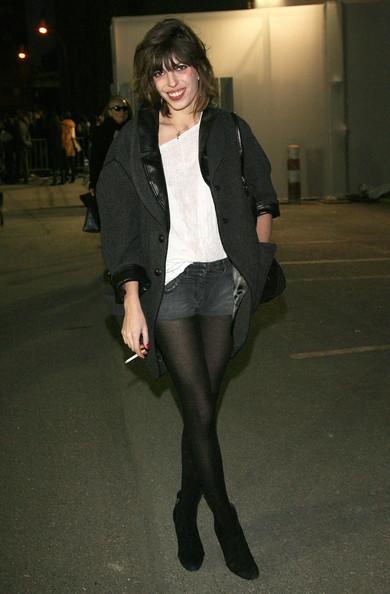 Lou Doillon Shorts Black Boots StyleChi