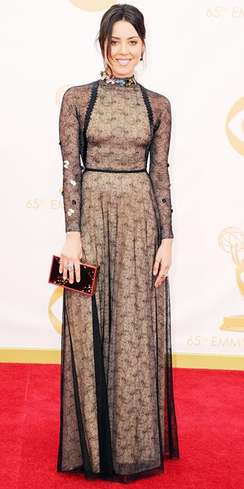 Emmy awards 2013 StyleChi Aubrey-plaza