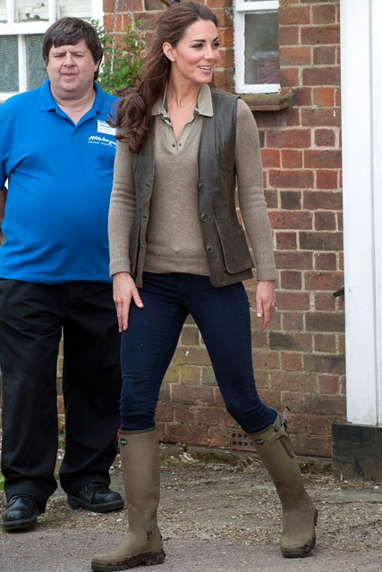 Kate Middleton Army Green Wellies