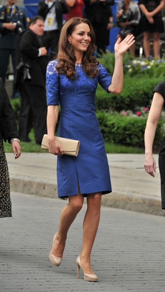 Kate Middleton Blue Dress Freedom-of-the-City Ceremony Quebec