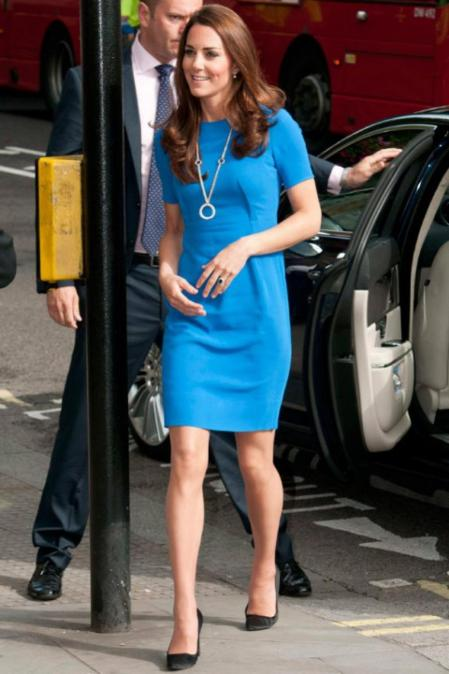 Kate Middleton Bright Blue Dress StyleChi