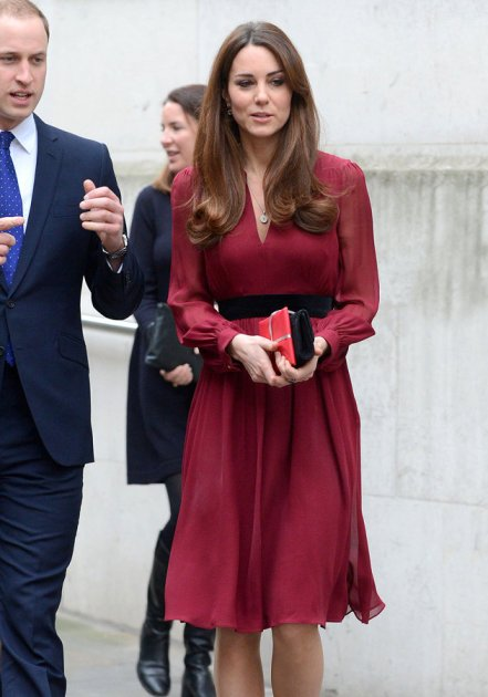 Kate Middleton Burgundy Dress StyleChi