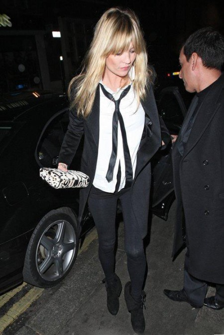 Kate Moss Androgynous Tie And Shirt StyleChi