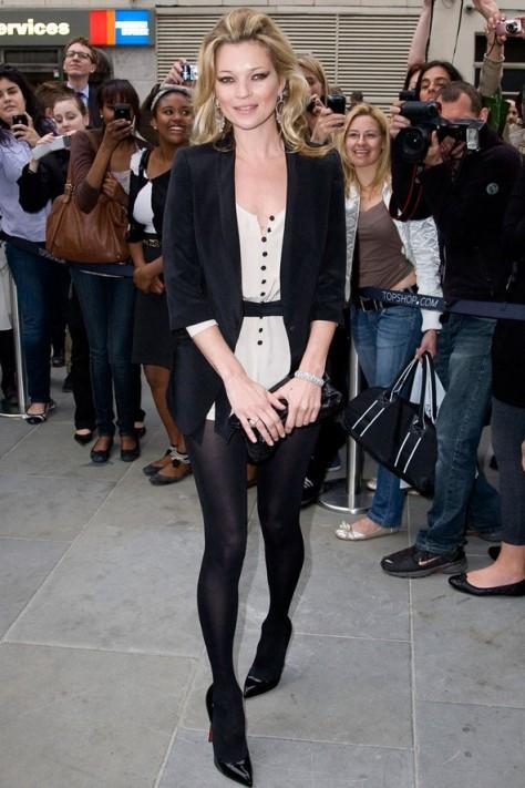 Kate moss Black Blazer Dress StyleChi