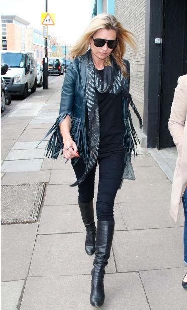 Kate Moss Coloured Leather Jacket StyleChi