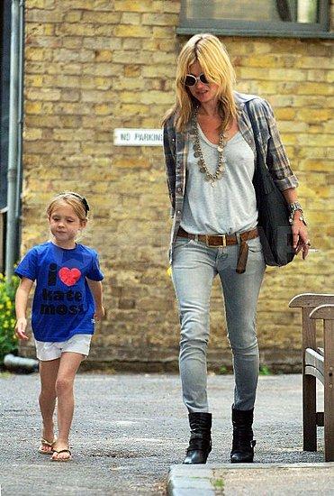 Kate Moss Grey Jeans Check Shirt StyleChi