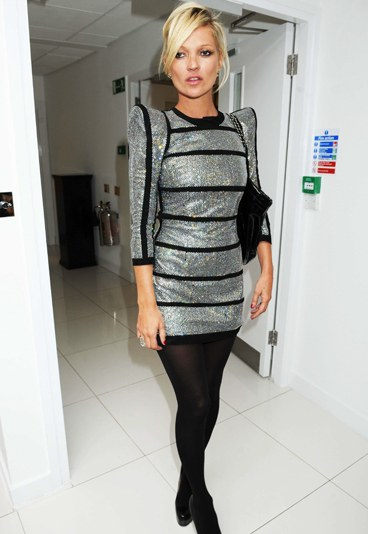 Kate-Moss Silver Dress Long Sleeves StyleChi