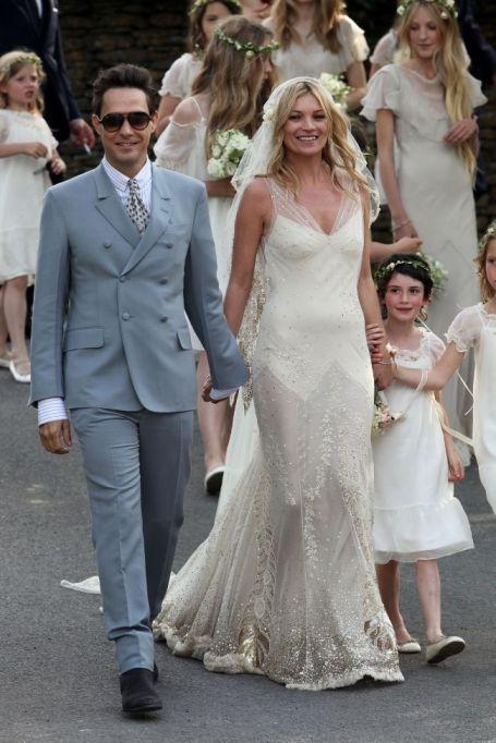 Kate Moss Vintage Wedding Dress StyleChi