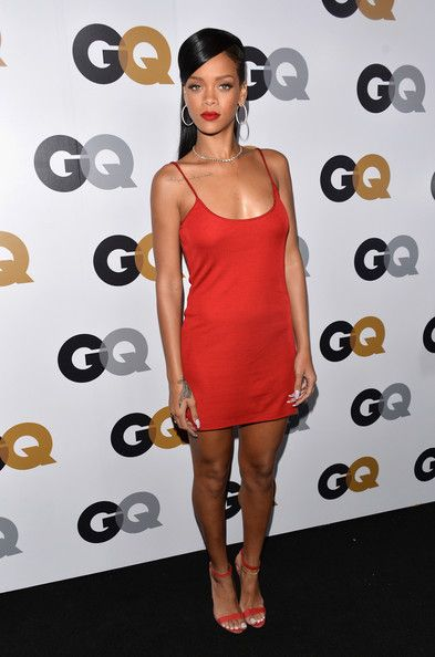 Rihanna Red Dress StyleChi