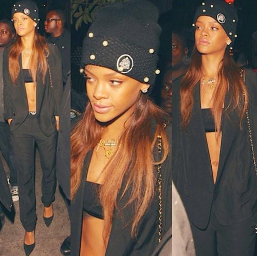 Rihanna Thug Black Ensemble StyleChi