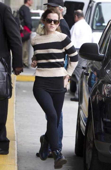 Emma Watson Casual Look Street Style StyleChi