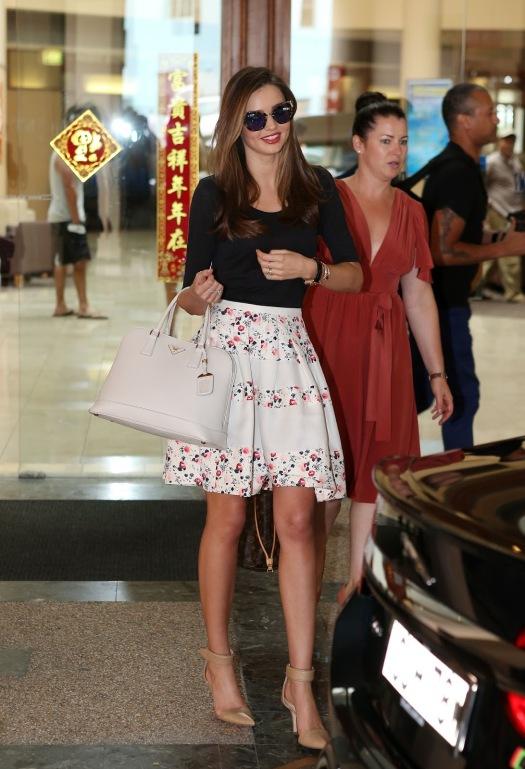 Miranda Kerr Floral Skirt Sydney StyleChi
