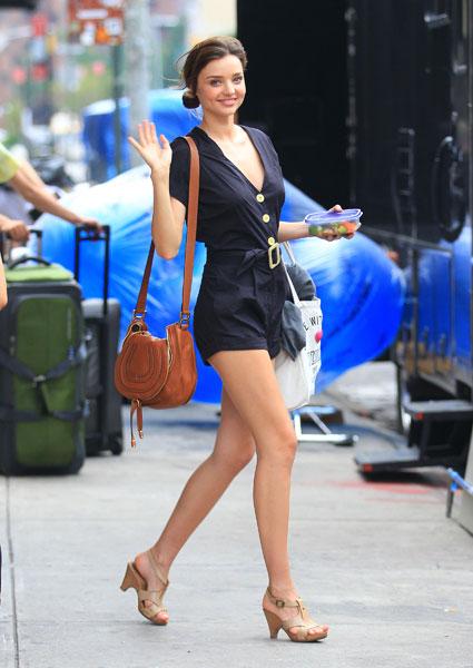 Miranda Kerr Navy Blue Retro Playsuit StyleChi