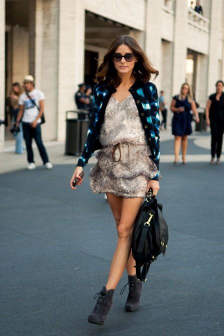 Olivia Palermo Dress Cardigan StyleChi