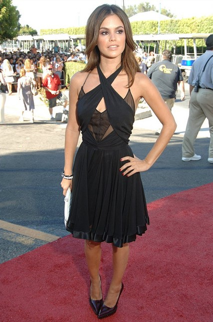 Rachel Bilson Cross Front LBD Red Carpet StyleChi