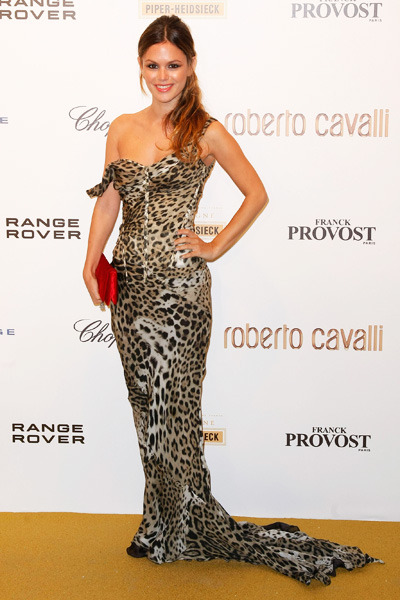 Rachel Bilson StyleChi Paris Fashion Week Leopard Print Mermaid Dress