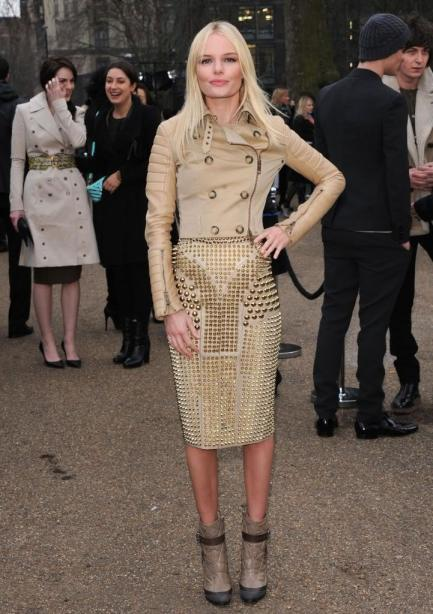 Kate Bosworth StyleChi Beige Studded Skirt Double Breasted Jacket