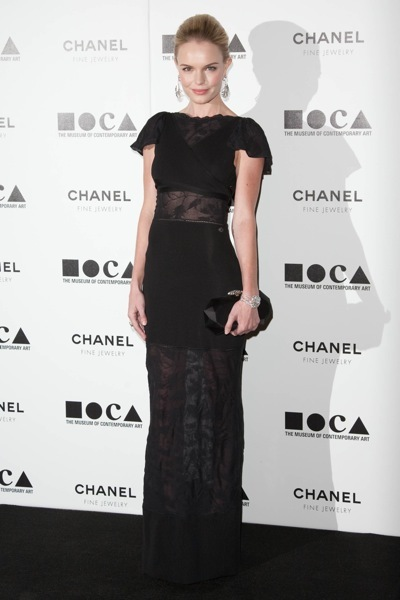 The stars come out for MOCA's Annual Gala in Los Angeles - Kate Bosworth Sheer Midi Dress StyleChi