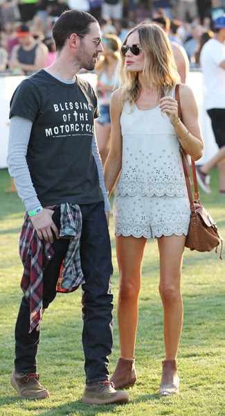 Kate Bosworth StyleChi Coachella Festival Style White Laser Cut Top And Shorts Suede Ankle Boots