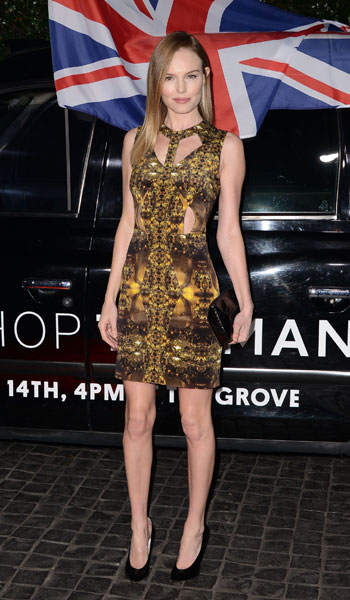 Kate Bosworth StyleChi Cut Out Black Yellow Dress