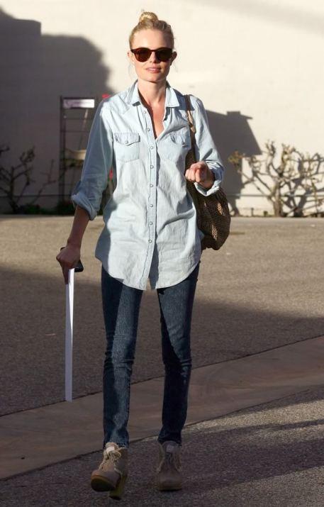Kate Bosworth StyleChi Double Denim Sunglasses
