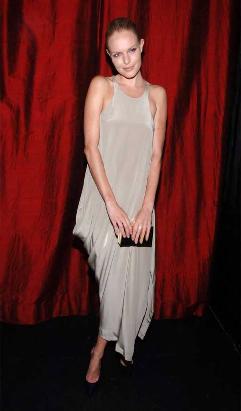 Kate Bosworth StyleChi Evening Dress Style Silver Racer Front Loose Fit