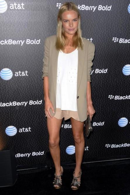 Kate Bosworth StyleChi Wearing Chloe Beige Blazer White Top Beige Scallop Shorts