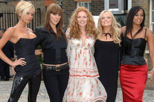 Spice Girls - Victoria Beckham, Melanie Chisholm, Geri Halliwell, Emma Bunton and Melanie Brown
