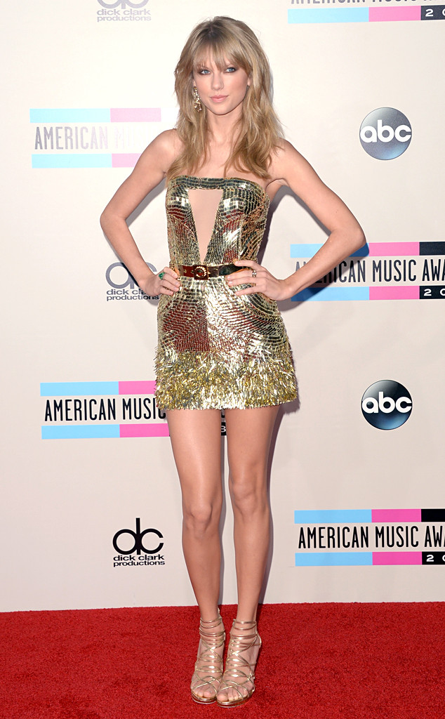 Taylor Swift Gold Sequin Dress 2013 AMA American Music Awards AMAs