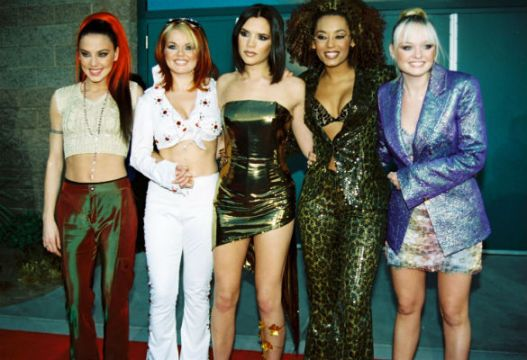Victoria Beckham Spice Girls Bustier Gold Dress StyleChi