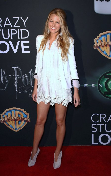 Blake Lively StyleChi White Lace Dress Blazer Taupe Open Front Shoe Boots